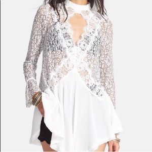 Free People White Tell Tale White Tunic Size XS